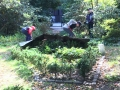 Volunteers plant in the Formal Garden