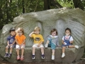 These angels graced Jo Albrecht's memorial stone bench in 2004.