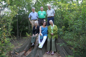 A group of Friends on the fallen oak, summer 2014. Photo Credit: Bruce Wolff