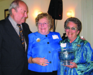 Betsy Shure Gross (right), Tupper Thomas, and Ralph P. Engle, Jr.  Photo by Jean Stringham
